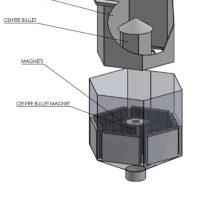 Hexagonal Bullet Tube Magnet