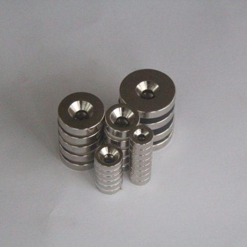 Rare Earth Neodymium Countersunk Ring Magnets
